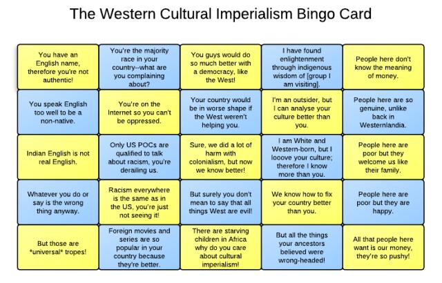 imperialism culturalimperialismbingocard