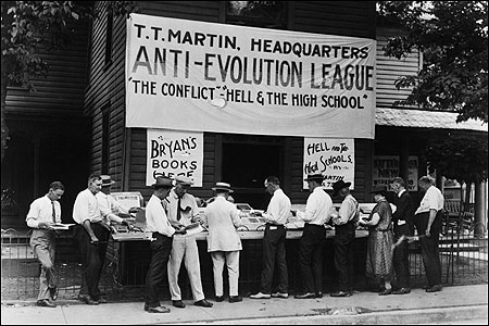 "Scopes Trial on Banning the Teaching of Evolution in Public Schools; ""Although not all conservatives are stupid, mean and selfish, most stupid, mean and selfish people are conservative."" John Stuart Mill"
