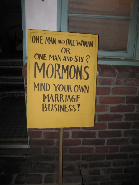 Mormonism Prop8ProtestMormonsign