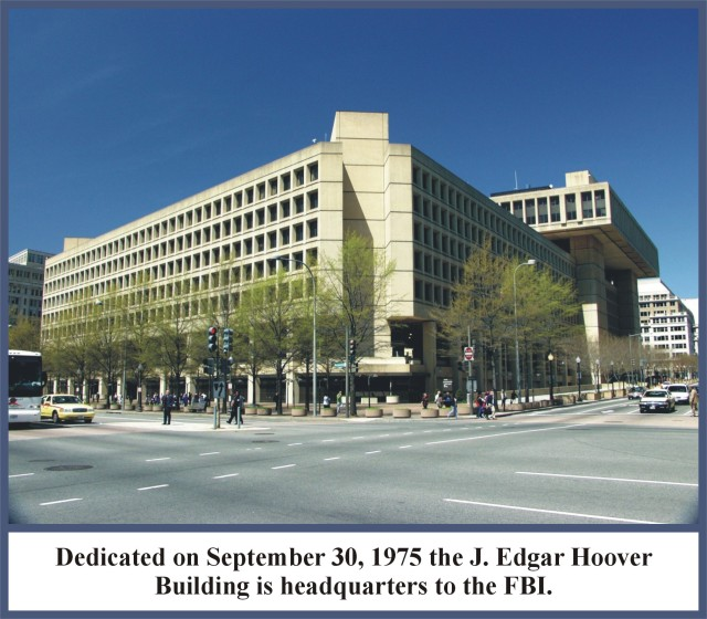"The J Edgar Hoover Building. Imagine a shelter for battered women named after Ted Bundy. Imagine a building of the B'nai Brith named after Adolf Eichmann. That is what a building of the FBI and ""Justice Department"" named after a corrupt fascist thug, megalomaniac, extortionist of presidents, blackmailer and associate of mobsters is like. That this building is still named after Hoover after all the lives he destroyed also says where the FBI is till at today in terms of its culture."