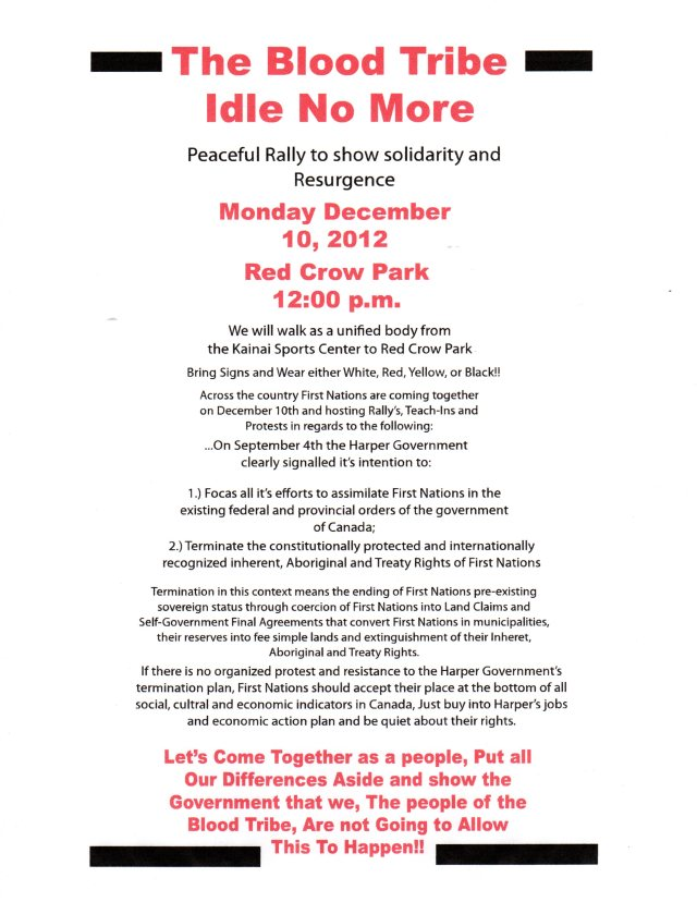 BLOOD TRIBE IDLE NO MORE411