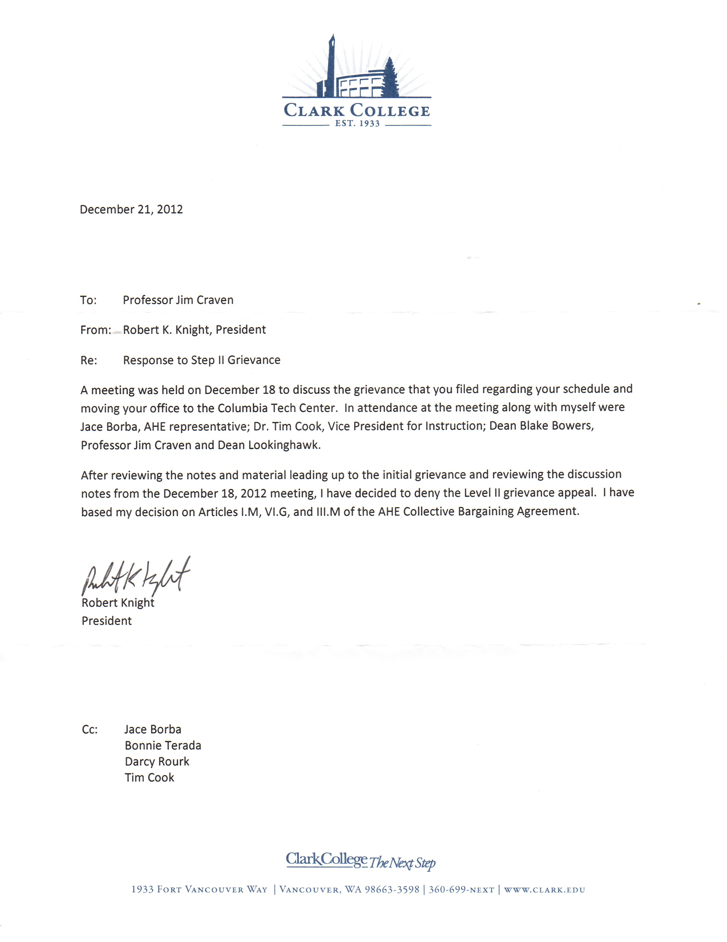 Union Grievance Response Letter from jimcraven10.files.wordpress.com