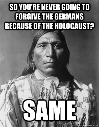 "comparing native american genocide to jewish holocaust I've seen several tweets comparing this to nazis / the holocaust and saying things like ""this is how it begins"" i teach holocaust literature so let me be clear – this isn't how it began."