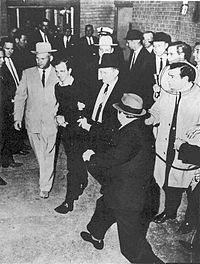 "Lee Harvey Oswald murdered at his ""Perp Walk"""