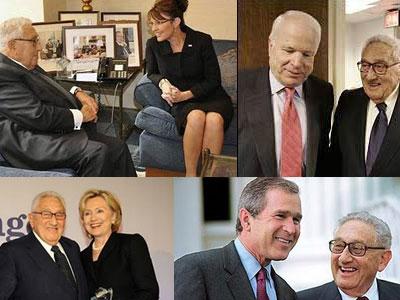 presidents Kissinger aconseja a la republicana Sarah Palin, apoya a Hillary Clinton, ayuda a McCain y trabaja con Jeb Bush