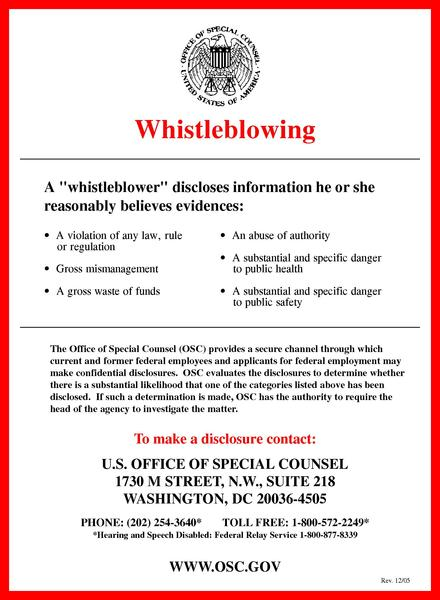 essay about whistleblowing