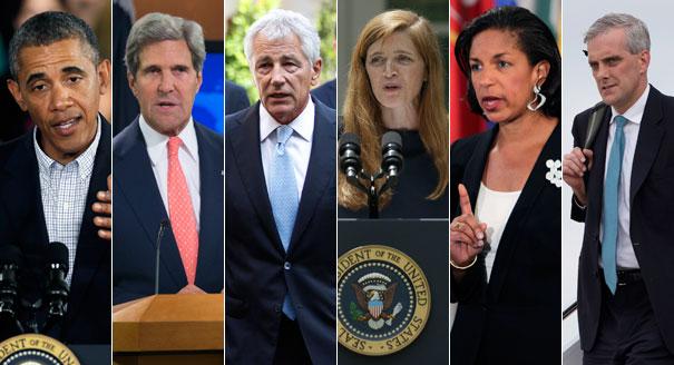 obama cabinet 130826_obama_kerry_hagel_power_rice_mcdonough_ap_605