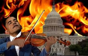 OBAMA FIDDLES WHILE nEW ROME BURNS untitled