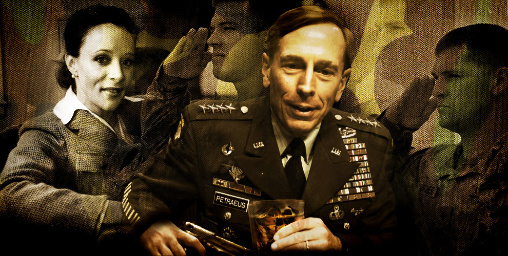 "... of ""the sins of General David Petraeus"" in a new column at BuzzFeed"
